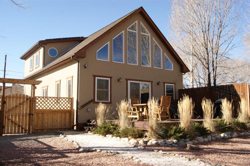 River City Chalet is River Front Magic - the large deck is perfect for relaxing and enjoying nature