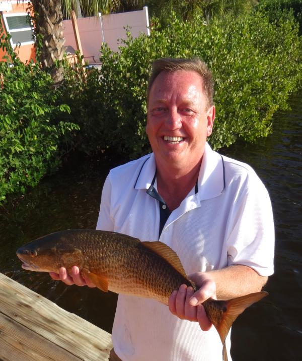 Grande pesca desde nossa doca!!!!