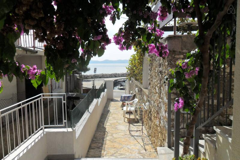 balcony of the apartment.in a quiet position,across the sea with see wiew