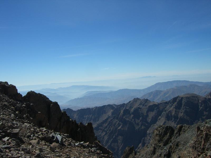 splendid view of the IUD Toubkal Summit