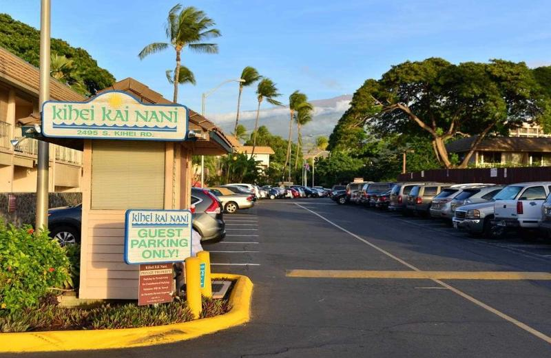 Entrance to Kihei Kai Nani at 2495 South Kihei Road (Haleakala in background)