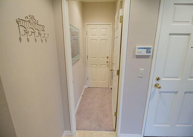 Private, locked hallway to unit 505B