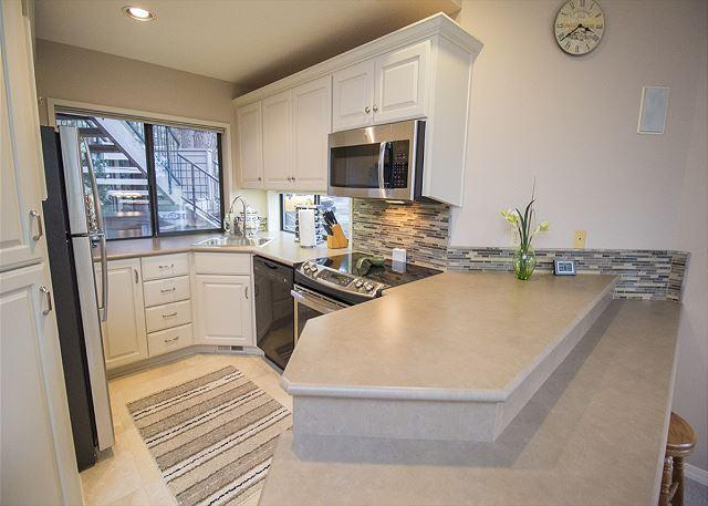 Newly remodeled kitchen with plenty of counterspace