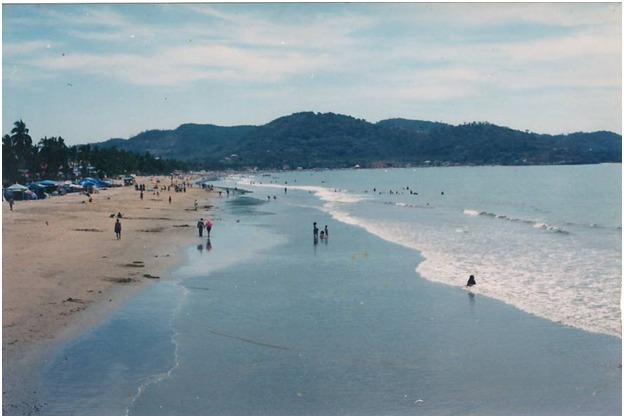 A local beach with fine golden silky sand.  Marvelous for wading the gentle Pacific surf.