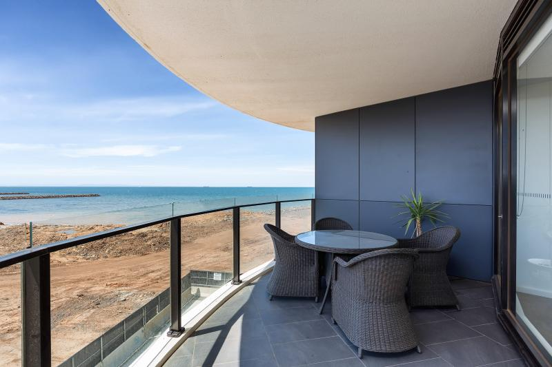 Wrap around balcony to enjoy bay views