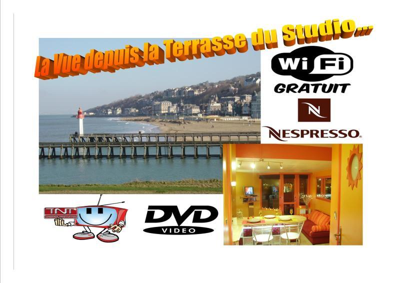 PROMO DEAUVILLE Estúdio Oceanview wi-fi Estacionamento 500m do centro e 900m da estação ferroviária