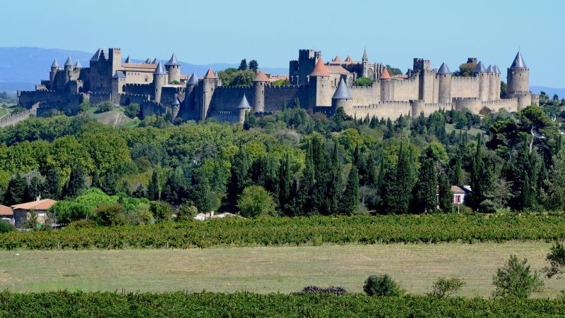 The turrets of Carcassonne citadel