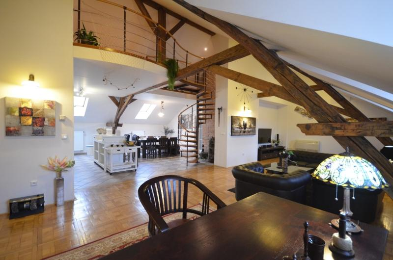 Living room (Downstairs) - Attic Hastalska - Luxury Three Bedroom & Two Bathroom Apartment