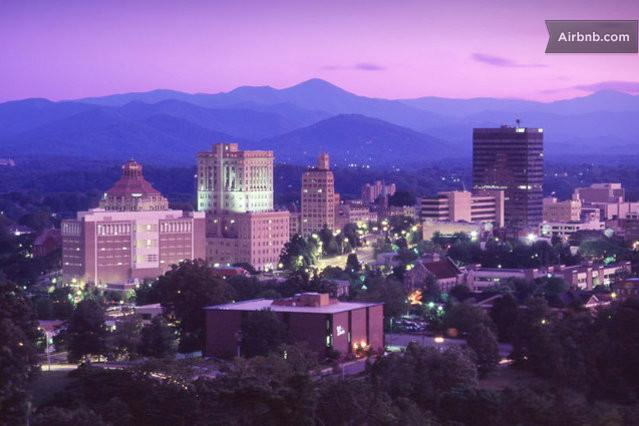 Eclectic Asheville. NC~ just 12 miles from Brittany's Mountain Retreat