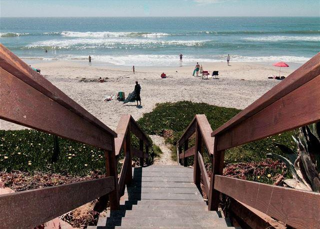 property is just steps away from the beach!