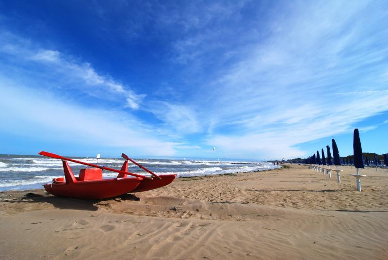 Beach of Lignano Pineta