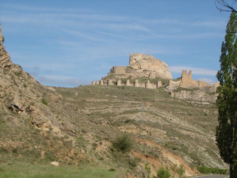 Aliaga vue sur le château