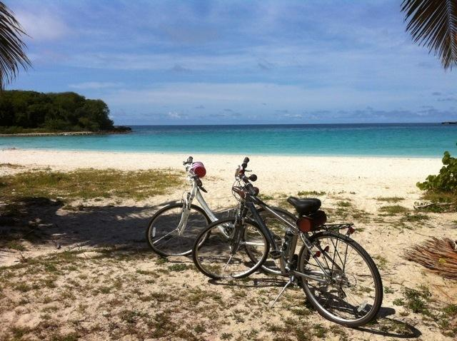 rent our bikes and go to the beach