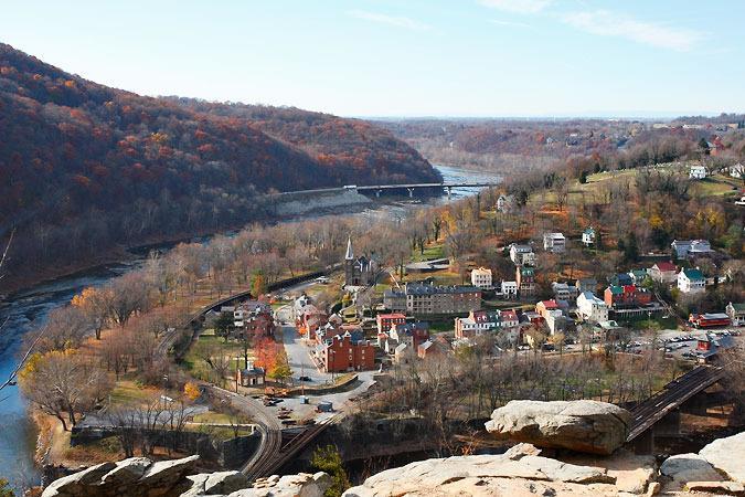 Vue de la chute de randonnée locale Maryland Heights