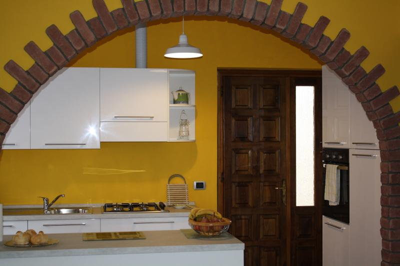 Kitchen with access to rear terrace