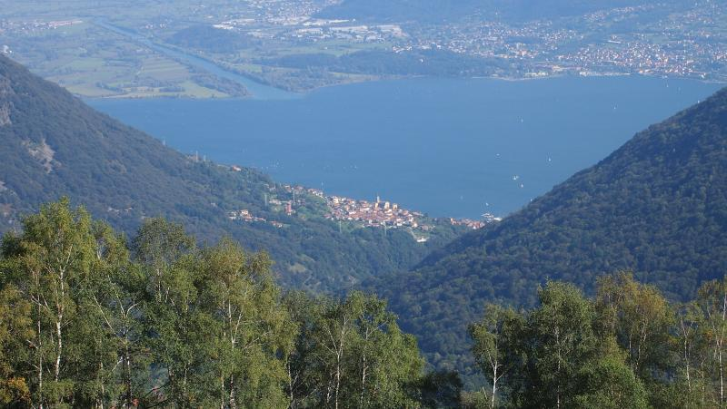 View of Vercana and Lake Como beyond ~ from walks above the village