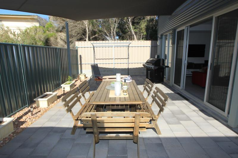 Outdoor BBQ dining