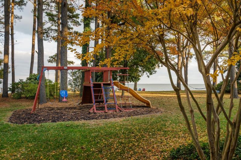 Kids play set has great views for parents