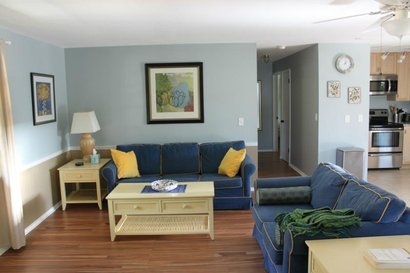 Living Room setup with sleeper sofa and a loveseat