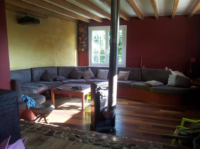 large 8 meters sofa and video projection room