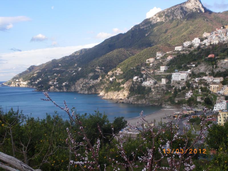 Vista da costa Amalfi