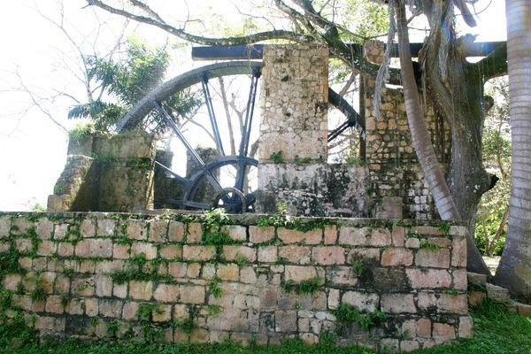 Nearby historic water wheel