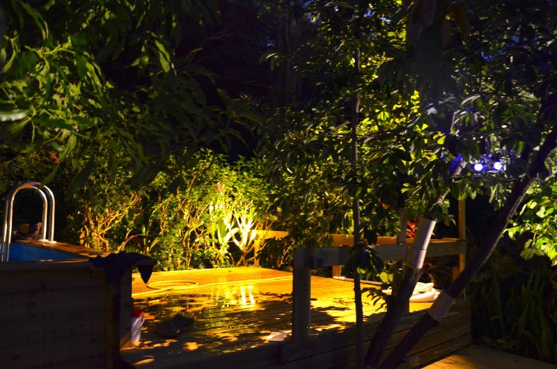 coin piscine Villa Fleurs des iles