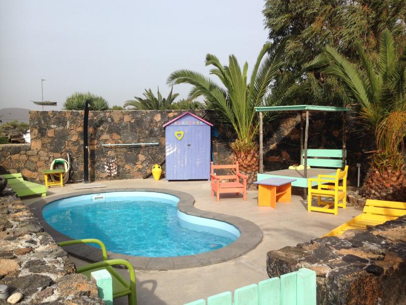 piscina privata al riparo dal vento