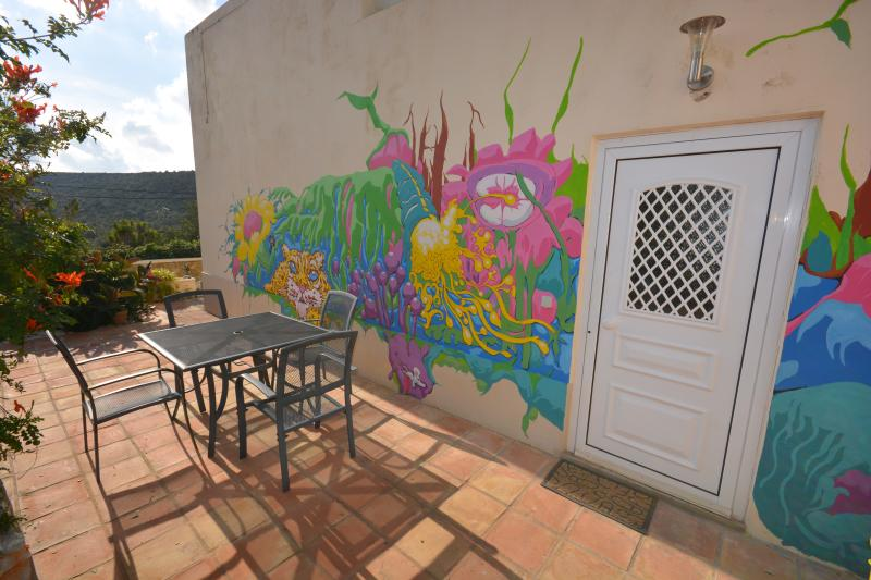 Bright alfresco dining area