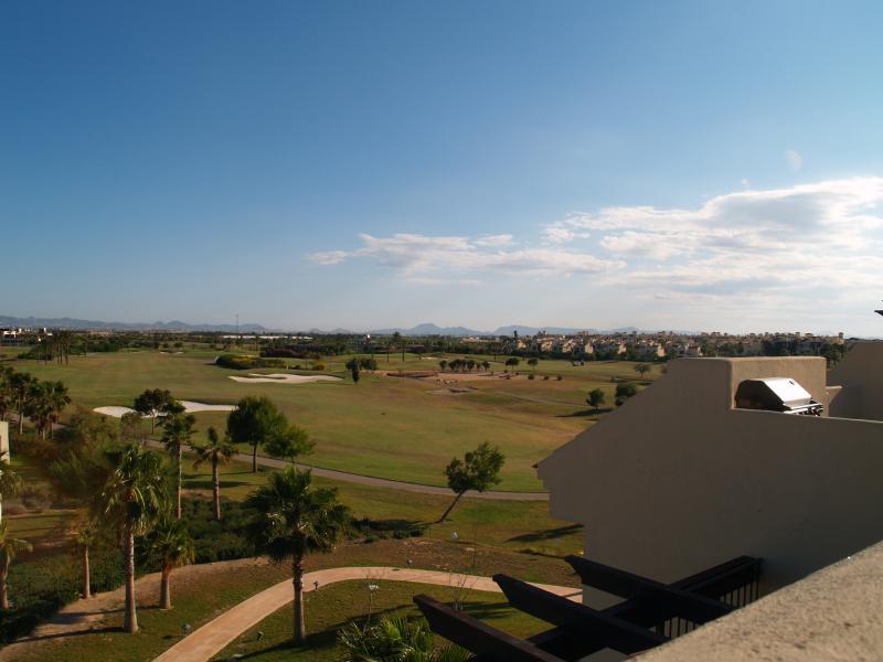 Vista de todo o campo de golfe Roda