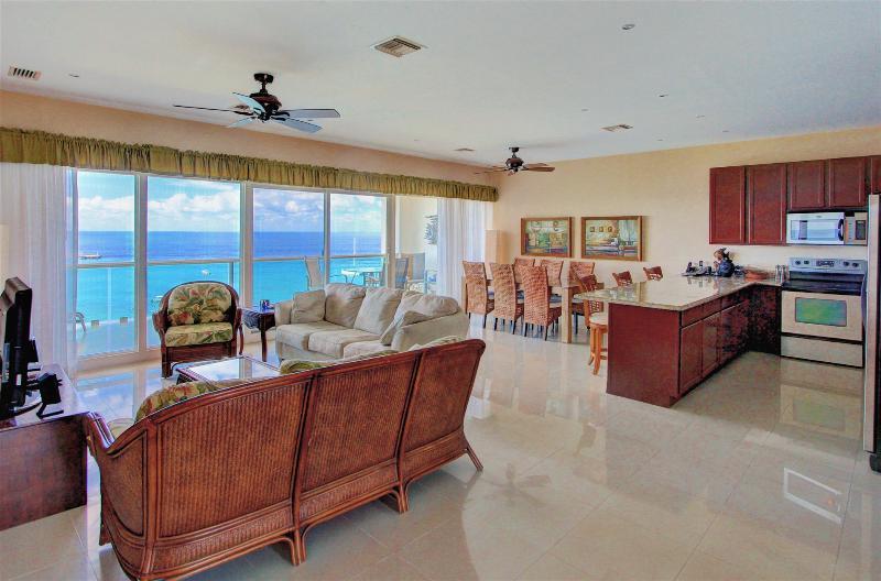 Open floor plan, wall to wall glass brings Caribbean inside.  Stunning views.