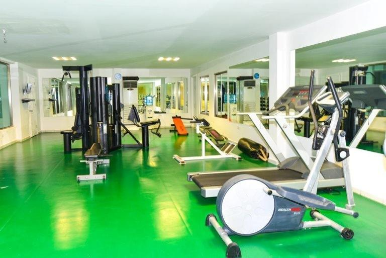 new gym as all equipment needed for a workout.........and is air-conditioned