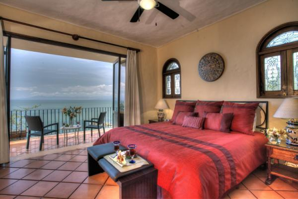 Enjoy the fantastic Vallarta sunsets from your bed. Watch humpback whales, boats and cruise ships.