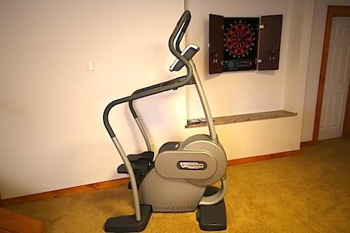 Work off a few calories on the Technogym stepper, have a game of electronic darts or play pool.