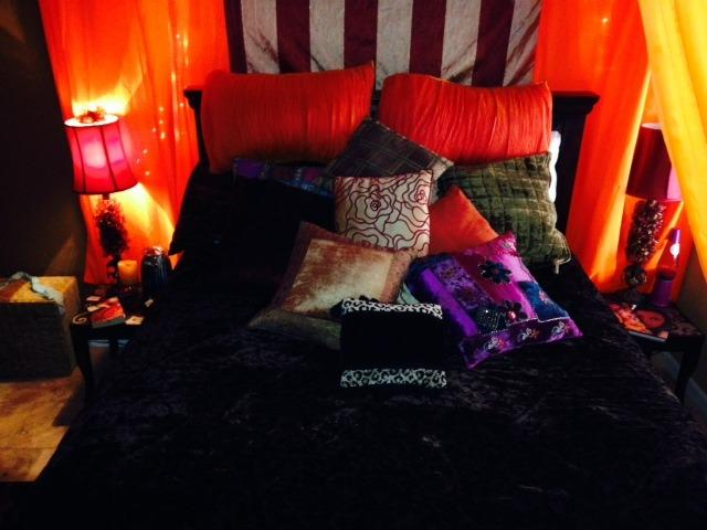 front view of awesomely comfy bed