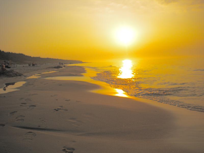 Sunset on Gzybowo beach