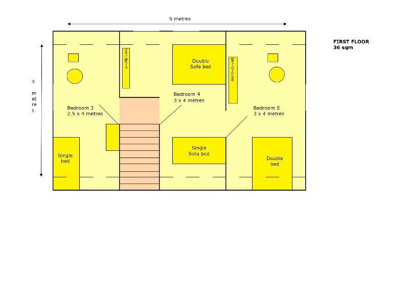 Plan de premier étage - 3 chambres