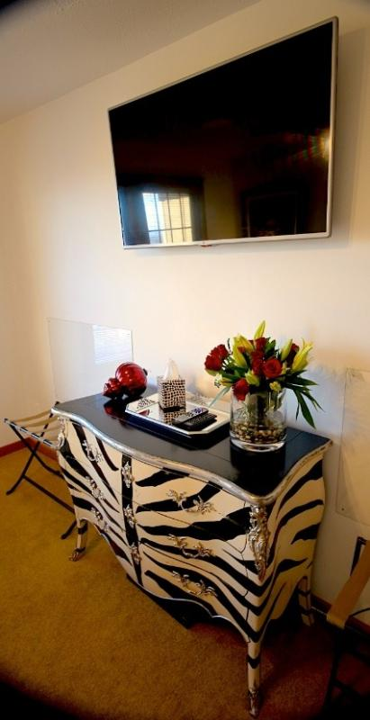 Designer furnishings throughout the property