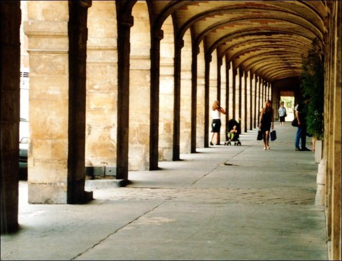 Arcades at Place des Vosges square