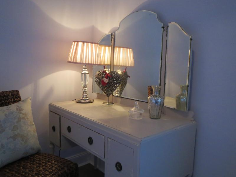 Original vintage furnishings in a shabby chic style