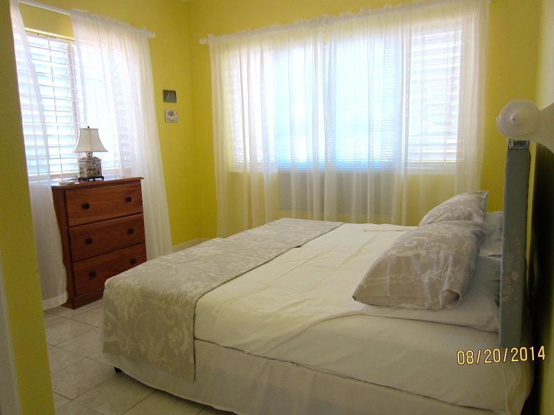Master Bedroom - 2 twins or King bed, AC, ceiling fan, en suite bathroom, walk in wardrobe