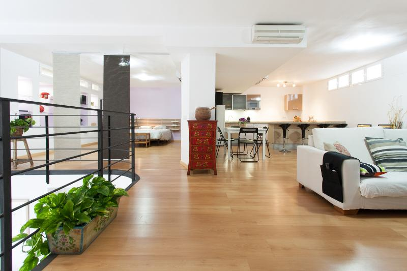 The Loft is characterized by wide spaces, comfort and closeness to the historic area of Sevilla