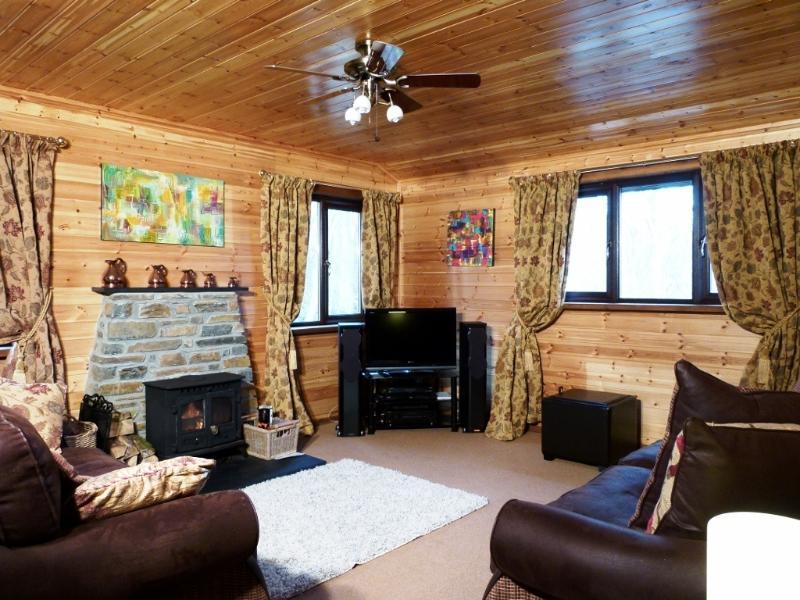 Sitting Room with woodburner, HD Sony TV & Hi FI