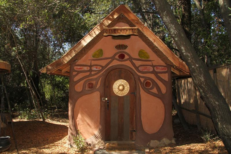 Fairy-tale Gingerbread House, made out of Earth