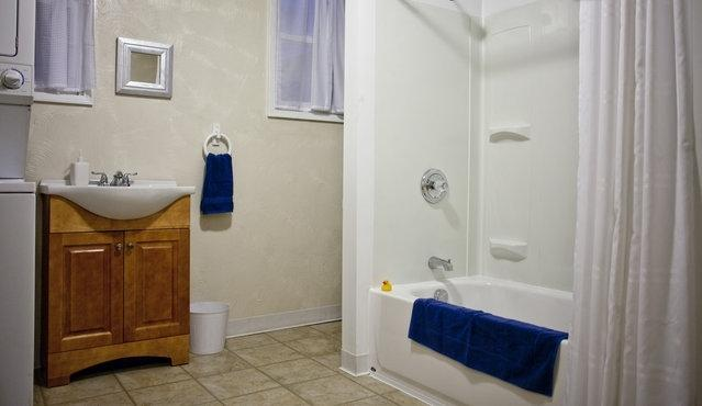 Bath and Laundry Combination is very roomy