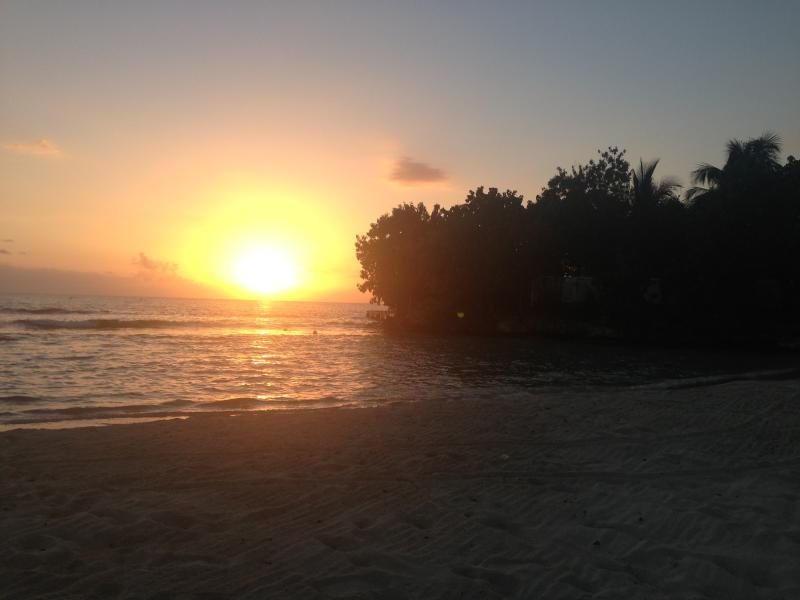 sunset off the beach