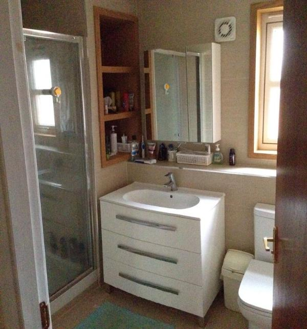 Recently renovated bathroom