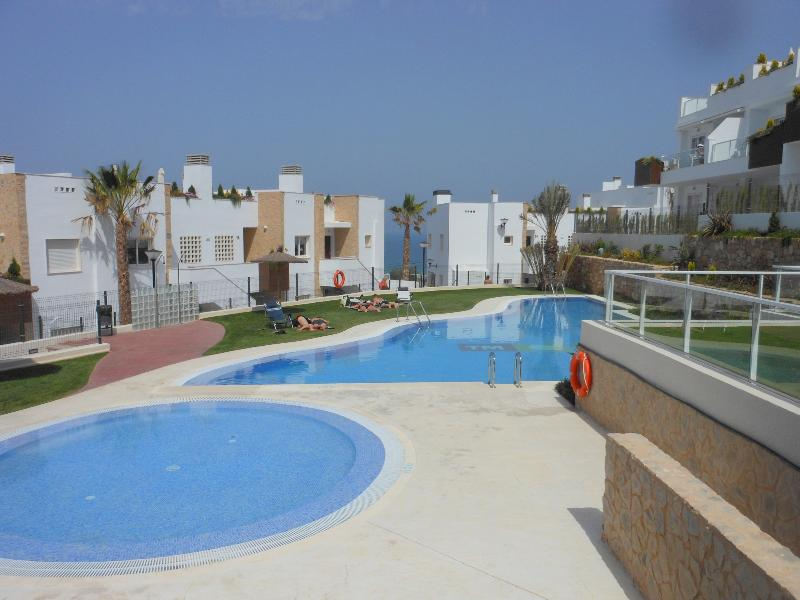The communal pools with free Wi-Fi just moments from the apartment