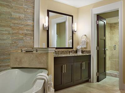 Two full luxurious bathrooms.