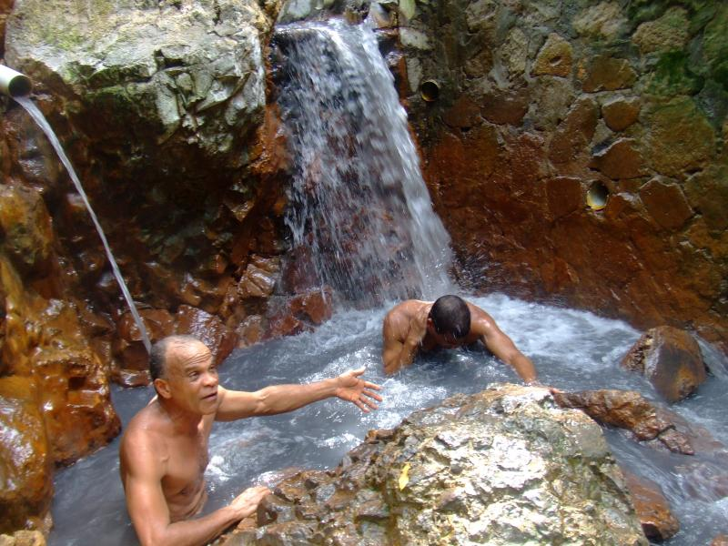 Bathing downstream of the Sulphur Spring